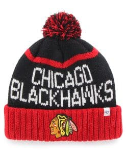 Chicago Blackhawks Linesman Cuff Knit Black 47 Brand Hat