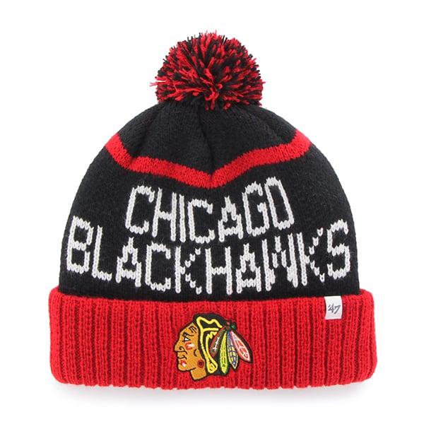 Chicago Blackhawks Linesman Cuff Knit Black 47 Brand Hat