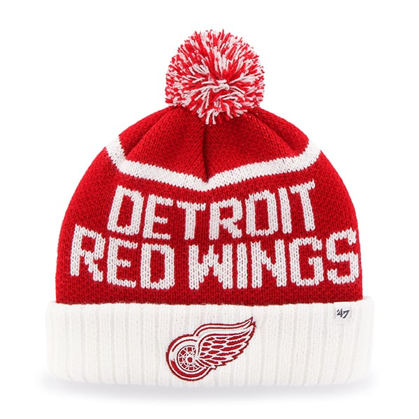 Detroit Red Wings Linesman Cuff Knit Red 47 Brand Hat