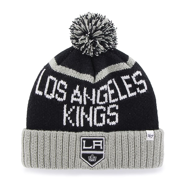 Los Angeles Kings Linesman Cuff Knit Black 47 Brand Hat