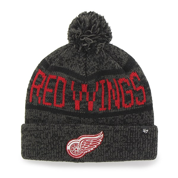 Detroit Red Wings Northmont Cuff Knit Charcoal 47 Brand Hat