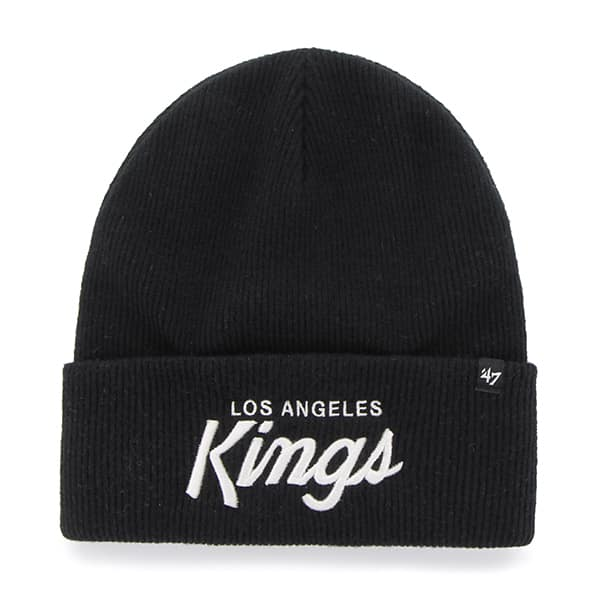 Los Angeles Kings Super Script Cuff Knit Black 47 Brand Hat