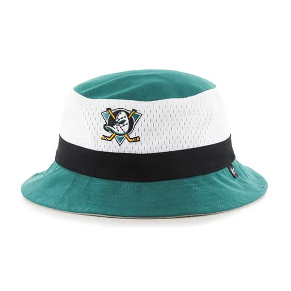 Anaheim Ducks Double Line Bucket Tailgate Teal 47 Brand Hat
