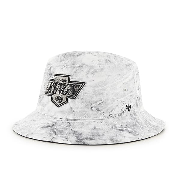 Los Angeles Kings Knuckle Down Bucket White 47 Brand Hat