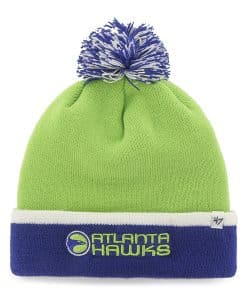 Atlanta Hawks Baraka Two Tone Cuff Knit Lime 47 Brand Hat