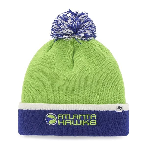 Atlanta Hawks Baraka Two Tone Cuff Knit Lime 47 Brand Hat