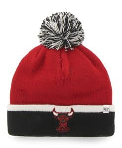 Chicago Bulls Baraka Two Tone Cuff Knit Red 47 Brand Hat