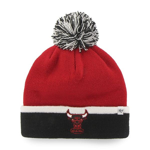 Chicago Bulls Baraka Two Tone Cuff Knit Red 47 Brand Hat