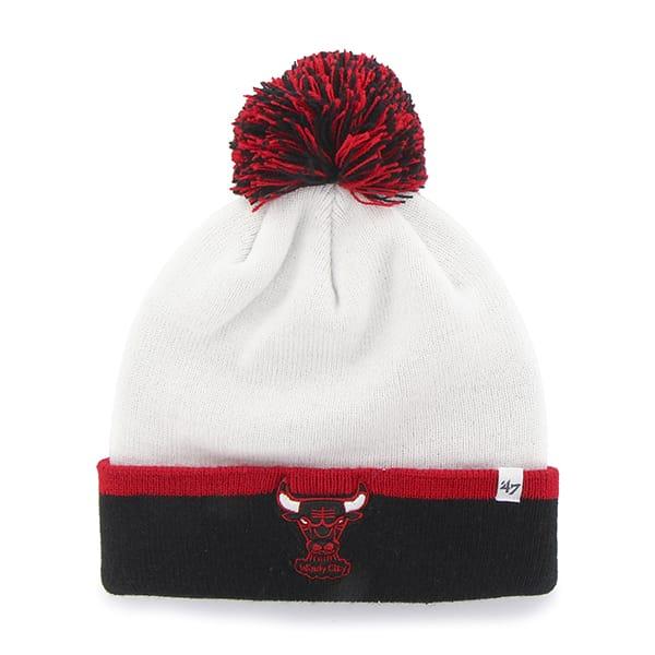 Chicago Bulls Baraka Two Tone Cuff Knit White 47 Brand Hat