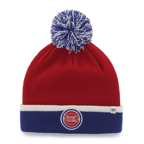 f906f14944e Detroit Pistons Baraka Two Tone Cuff Knit Red 47 Brand Hat - Detroit ...