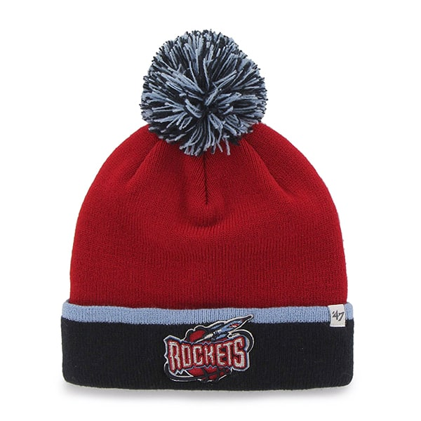 Houston Rockets Baraka Two Tone Cuff Knit Red 47 Brand Hat