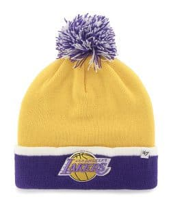 Los Angeles Lakers Baraka Two Tone Cuff Knit Yellow Gold 47 Brand Hat