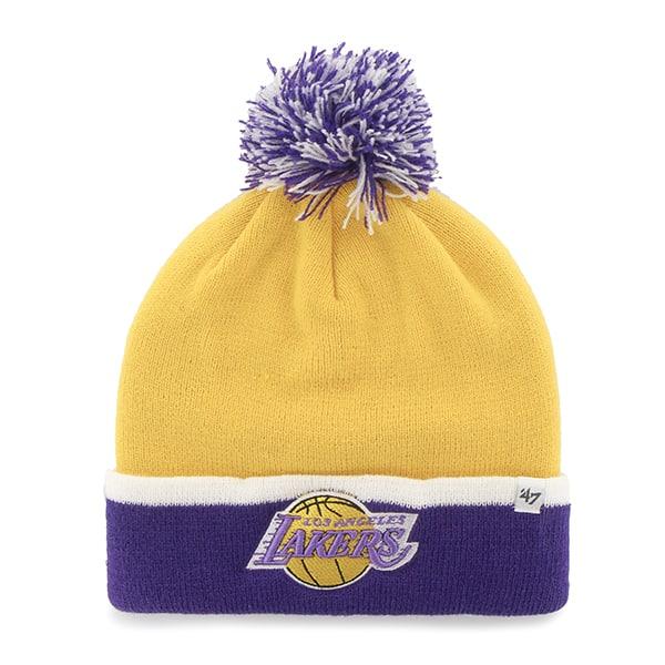 Los Angeles Lakers Baraka Two Tone Cuff Knit Yellow Gold 47 Brand Hat