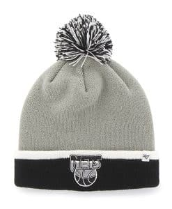 Brooklyn Nets Baraka Two Tone Cuff Knit Gray 47 Brand Hat
