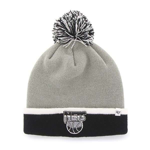 Brooklyn Nets Baraka Two Tone Cuff Knit Gray 47 Brand Hat