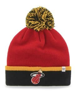 Miami Heat Baraka Two Tone Cuff Knit Red 47 Brand Hat