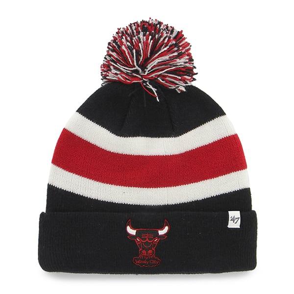 Chicago Bulls Breakaway Cuff Knit Black 47 Brand Hat