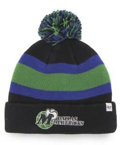 Dallas Mavericks Breakaway Cuff Knit Black 47 Brand Hat
