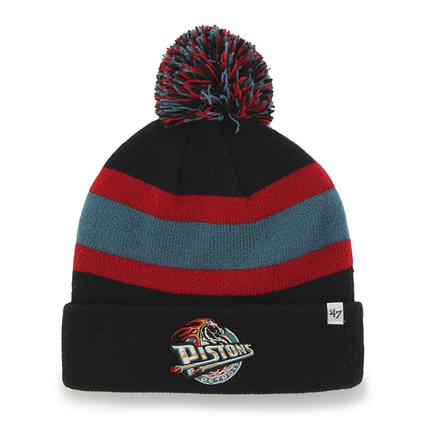 Detroit Pistons Breakaway Cuff Knit Black 47 Brand Hat