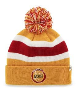 Houston Rockets Breakaway Cuff Knit Gold 47 Brand Hat