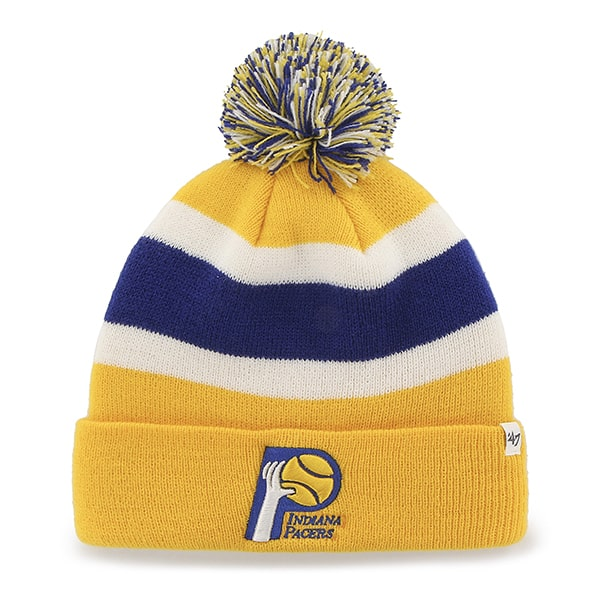 Indiana Pacers Breakaway Cuff Knit Yellow Gold 47 Brand Hat