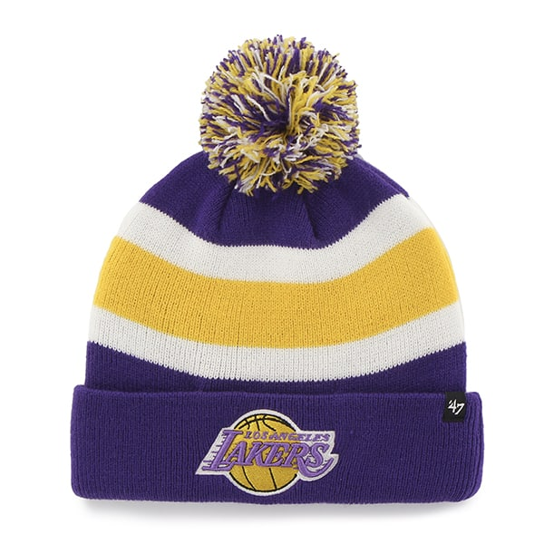 Los Angeles Lakers Breakaway Cuff Knit Purple 47 Brand Hat