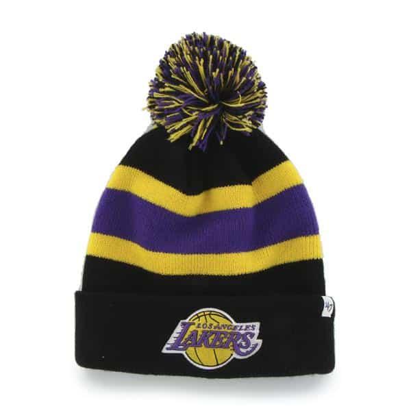 Los Angeles Lakers Breakaway Cuff Knit Black 47 Brand Hat
