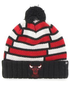 Chicago Bulls Breakout Cuff Knit Black 47 Brand Hat