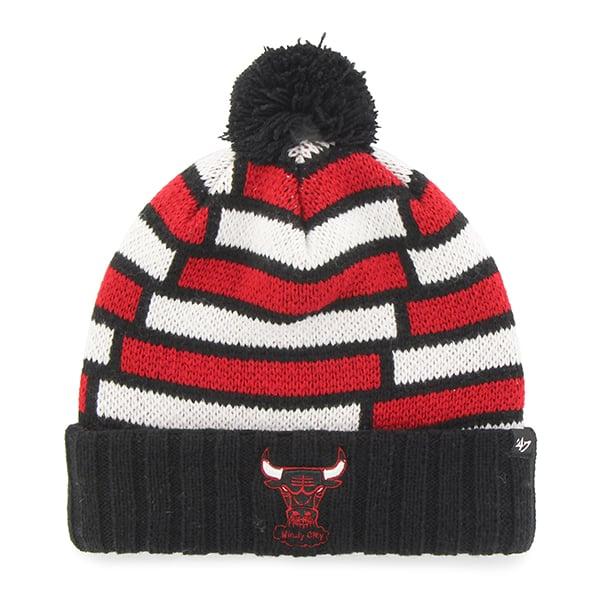 Chicago Bulls Breakout Cuff Knit Black 47 Brand Hat