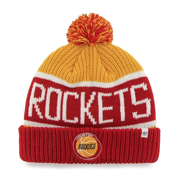 Houston Rockets Calgary Cuff Knit Gold 47 Brand Hat