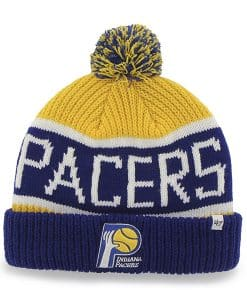 Indiana Pacers Calgary Cuff Knit Yellow Gold 47 Brand Hat