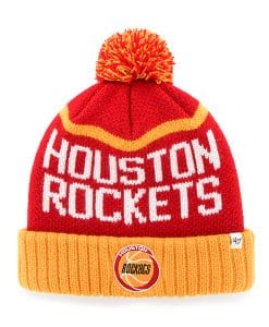 Houston Rockets Linesman Cuff Knit Red 47 Brand Hat