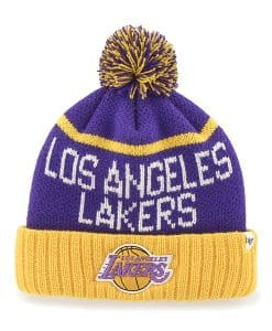 Los Angeles Lakers Linesman Cuff Knit Purple 47 Brand Hat