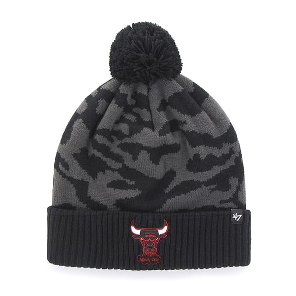 Chicago Bulls M Twenty Nine Cuff Knit Charcoal 47 Brand Hat