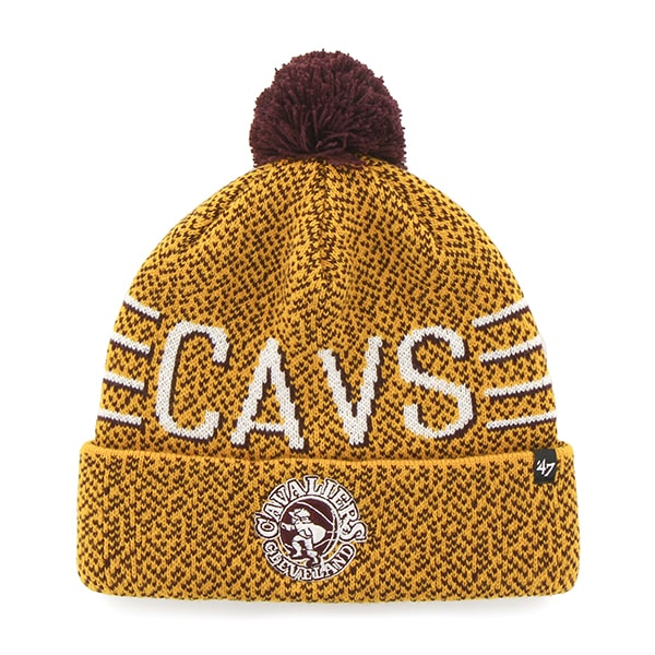 Cleveland Cavaliers Mezzo Cuff Knit Gold 47 Brand Hat