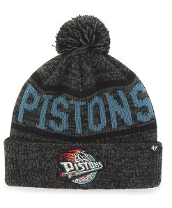Detroit Pistons Northmont Cuff Knit Charcoal 47 Brand Hat