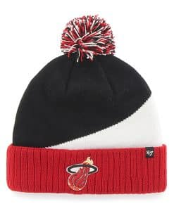 Miami Heat Rockhead Cuff Knit Red 47 Brand Hat