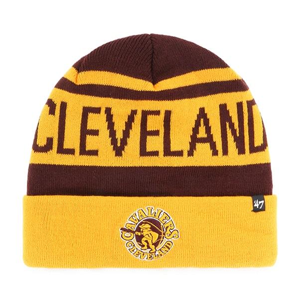 Cleveland Cavaliers Rift Cuff Knit Dark Maroon 47 Brand Hat