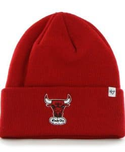 Chicago Bulls Raised Cuff Knit Red 47 Brand Hat