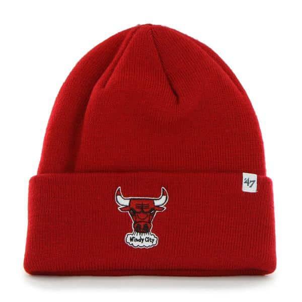 Chicago Bulls Raised Cuff Knit Red 47 Brand Hat