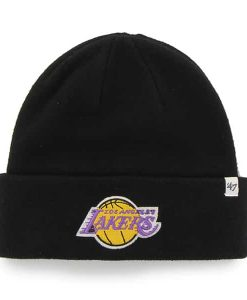 Los Angeles Lakers Raised Cuff Knit Black 47 Brand Hat