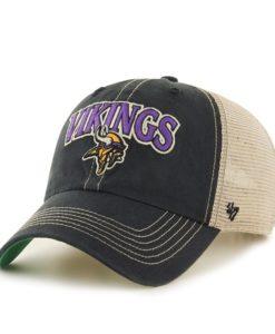 Minnesota Vikings Tuscaloosa Clean Up Vintage Black 47 Brand Adjustable Hat