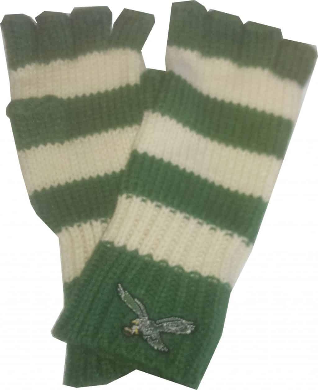 best service f0b4c fee1e Philadelphia Eagles North Slope Fingerless Gloves Kelly 47 Brand Womens