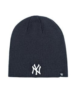 New York Yankees 47 Brand Navy Raised Beanie Hat