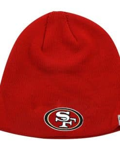 San Francisco 49ers 47 Brand Red Knit Beanie Hat