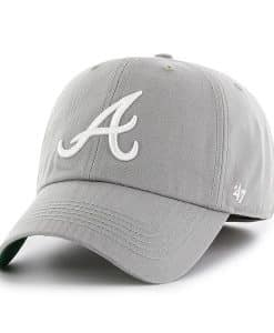 Atlanta Braves 47 Brand Gray Franchise Fitted Hat