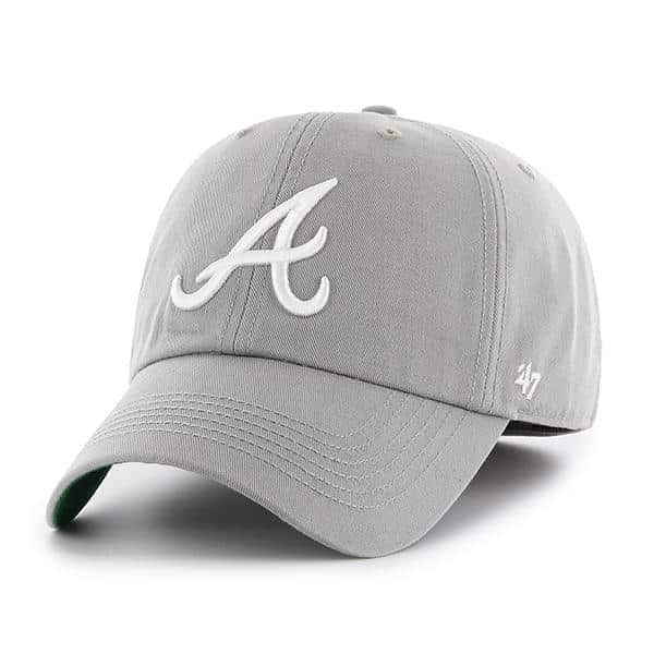 565972ad13b60 Atlanta Braves 47 Brand Gray Franchise Fitted Hat - Detroit Game Gear