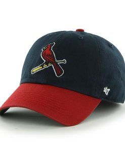 St. Louis Cardinals LARGE 47 Brand Navy Red Franchise Fitted Hat