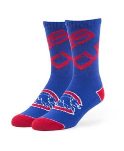 Chicago Cubs 47 Brand LARGE Helix Blue Sport Socks