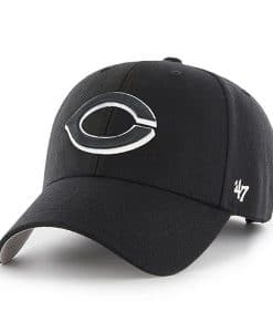 Cincinnati Reds 47 Brand Black MVP Adjustable Hat